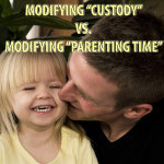 Modify parenting time or custody